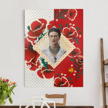 Immagine del prodotto Stampa su tela - Frida Kahlo - Poppies - Verticale 4:3