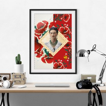 Product picture Framed print - Frida Kahlo - Poppies -...