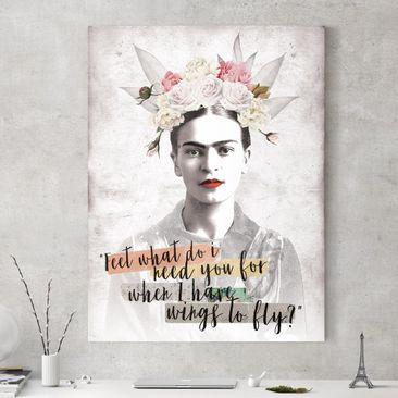Produktfoto Leinwandbild - Frida Kahlo - Quote - Hochformat 4:3