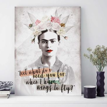 Produktfoto Glasbild - Frida Kahlo - Quote - Hochformat 4:3