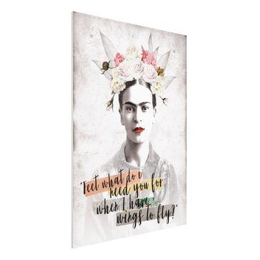 Produktfoto Forex Fine Art Print -Frida Kahlo - Quote- Hochformat 4:3