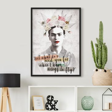 Product picture Framed print - Frida Kahlo - Quote -...