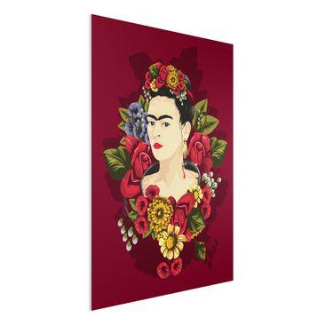 Produktfoto Forex Fine Art Print -Frida Kahlo - Rosen- Hochformat 4:3