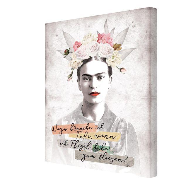 Produktfoto Leinwandbild - Frida Kahlo - Zitat - Hochformat 4:3