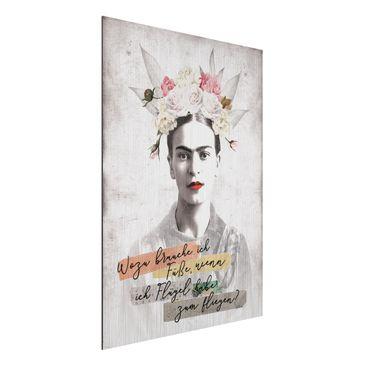 Immagine del prodotto Stampa su alluminio spazzolato - Frida Kahlo - Zitat - Verticale 4:3