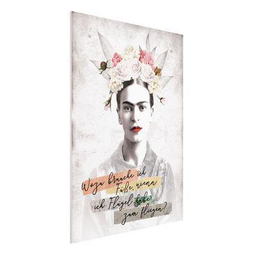 Produktfoto Forex Fine Art Print -Frida Kahlo - Zitat- Hochformat 4:3