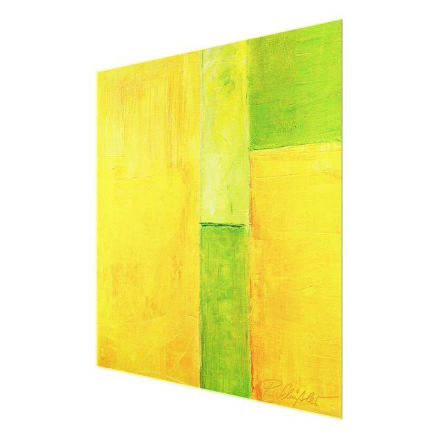 Produktfoto Glasbild - Petra Schüßler - Frühlings Komposition 03 - Quadrat 1:1