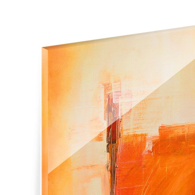 Produktfoto Glasbild - Petra Schüßler - Abstrakt Orange Braun - Panel