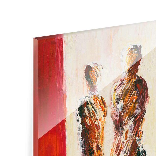 Produktfoto Glasbild - Petra Schüßler - Paar in Rot - Panel