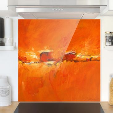 Produktfoto Spritzschutz Glas - Komposition in Orange - Quadrat 1:1