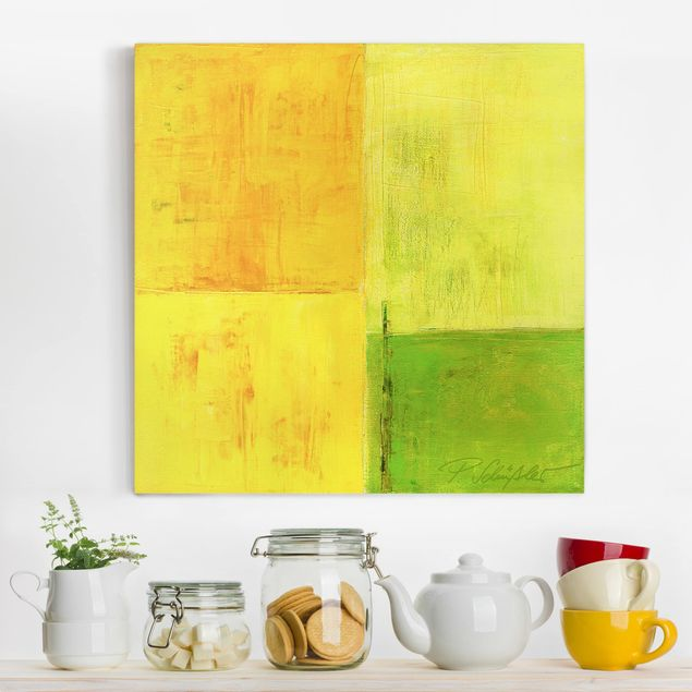 Produktfoto Leinwandbild - Petra Schüßler - Frühlings Komposition 02 - Quadrat 1:1