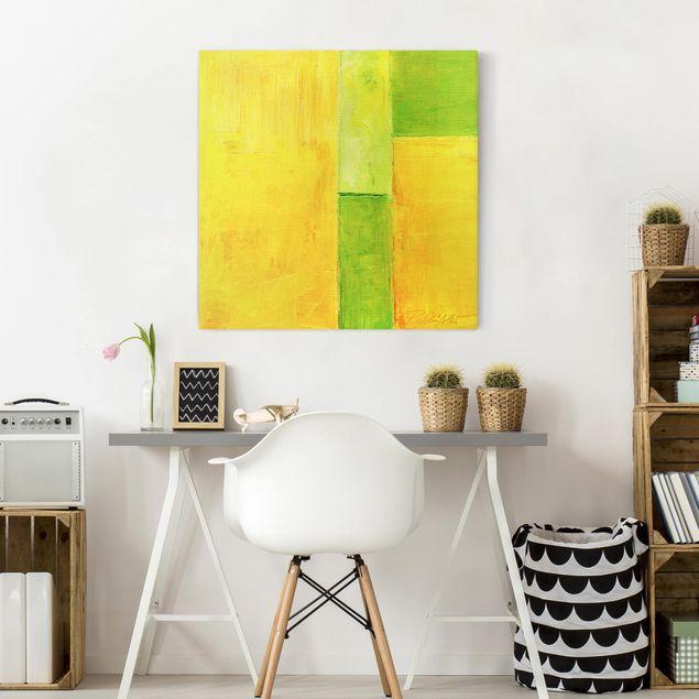 Produktfoto Leinwandbild - Petra Schüßler - Frühlings Komposition 03 - Quadrat 1:1