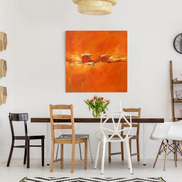 Produktfoto Leinwandbild - Petra Schüßler - Komposition in Orange - Quadrat 1:1