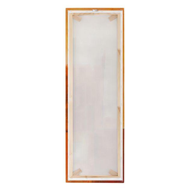 Produktfoto Leinwandbild - Petra Schüßler - Abstrakt Orange Braun - Panorama Hochformat 3:1