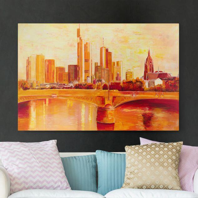 Produktfoto Leinwandbild - Petra Schüßler - Skyline Frankfurt - Querformat 2:3