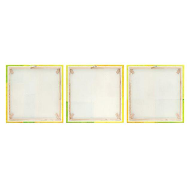 Produktfoto Leinwandbild 3-teilig - Petra Schüßler - Frühlings Komposition - Quadrate 1:1