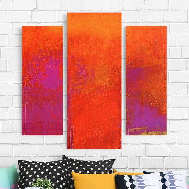 Produktfoto Leinwandbild 3-teilig - Petra Schüßler - Magenta Energy - Galerie Triptychon