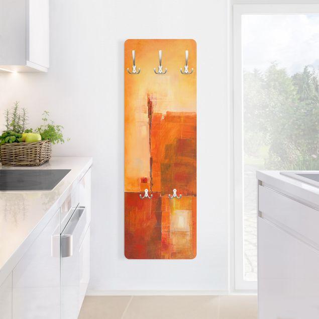 Produktfoto Garderobe - Petra Schüßler - Abstrakt Orange Braun