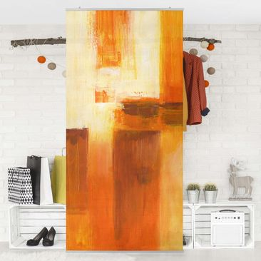 Immagine del prodotto Tenda a pannello - Petra Schüßler - Composition In Orange And Brown 01 - 250x120cm