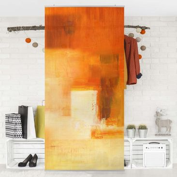 Immagine del prodotto Tenda a pannello - Petra Schüßler - Composition In Orange And Brown 03 - 250x120cm