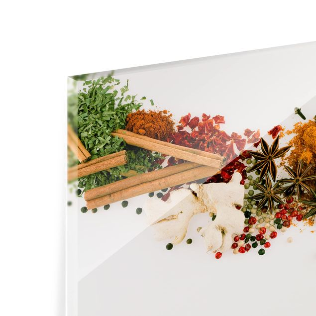 Produktfoto Spritzschutz Glas - Gewürze und getrocknete Kräuter - Querformat 2:3