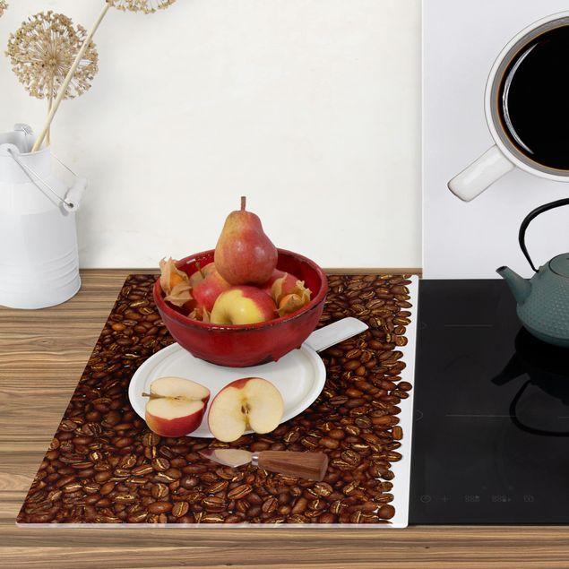 Produktfoto Herdabdeckplatte Glas - Milchkaffee - 52x80cm, Anwendungsbeispiel, Artikelnummer 228527-XWAF