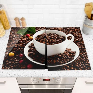 Immagine del prodotto Coprifornelli in vetro - Coffee Cup With Roasted Coffee Beans - 52x80cm