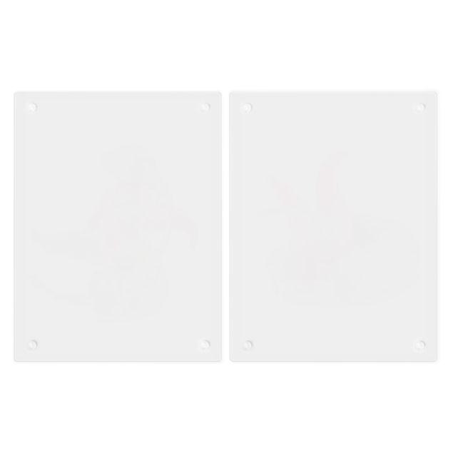 Produktfoto Herdabdeckplatte Glas - Rote und grüne Peperoni - 52x80cm, Unterseite, Artikelnummer -FB