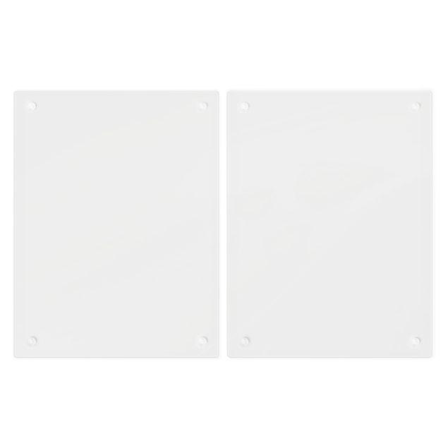 Produktfoto Herdabdeckplatte Glas - Bananenblatt mit Tropfen - 52x80cm, Unterseite, Artikelnummer -FB