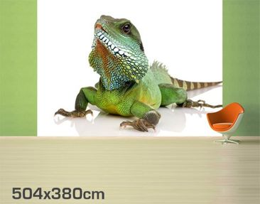 Product picture Photo Wall Mural Green Iguana II...