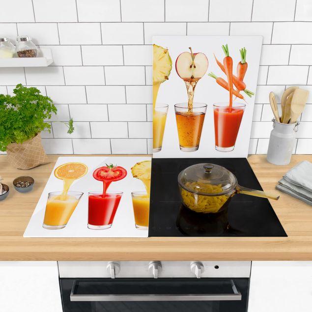 Produktfoto Herdabdeckplatte Glas - Frisch gepresst - 52x80cm, in Wohnambiente, Artikelnummer -WA
