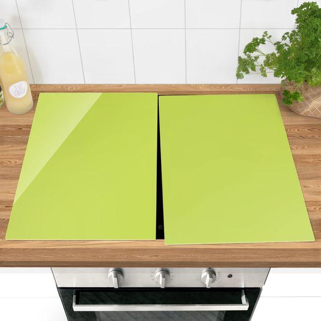 Produktfoto Herdabdeckplatte Glas - Frühlingsgrün - 52x80cm, vergrößerte Ansicht in Wohnambiente, Artikelnummer -XWA