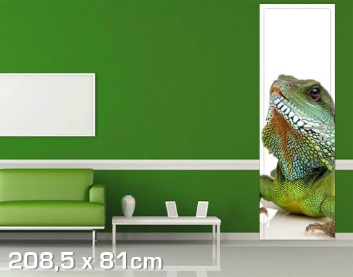 Produktfoto TürTapete Grüner Leguan II