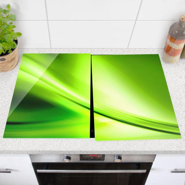 Produktfoto Herdabdeckplatte Glas - Green Valley - 52x80cm, 8 Gummifüße, Artikelnummer -ZU