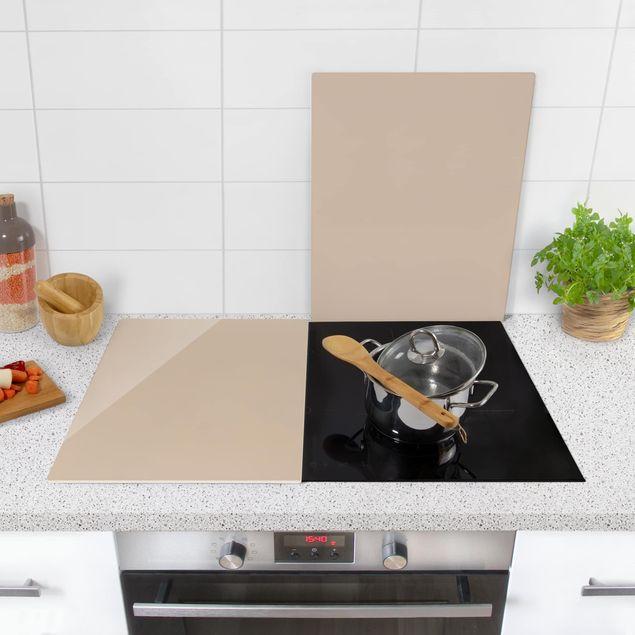 Produktfoto Herdabdeckplatte Glas - Macchiato - 52x80cm, in Wohnambiente, Artikelnummer -WA