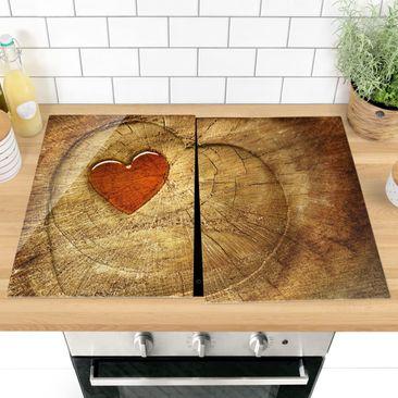 Immagine del prodotto Coprifornelli in vetro - Natural Love - 52x80cm