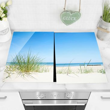 Product picture Glass hob cover - Baltic Sea Coast -...