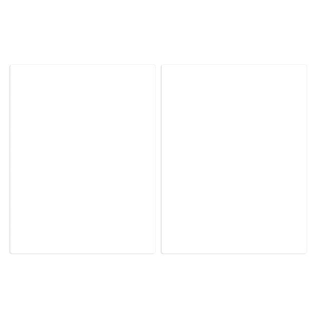 Produktfoto Herdabdeckplatte Glas - Polarweiß - 52x80cm, Frontalansicht, Artikelnummer -FF