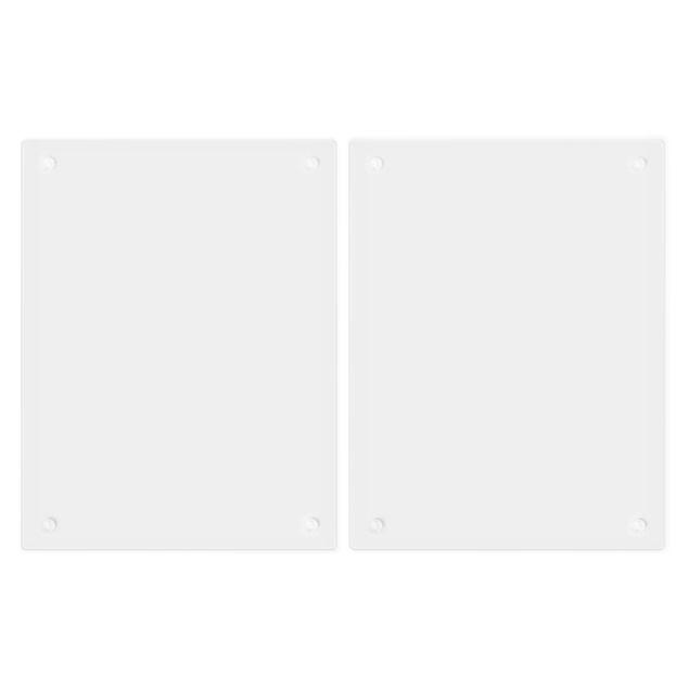 Produktfoto Herdabdeckplatte Glas - Polarweiß - 52x80cm, Unterseite, Artikelnummer -FB