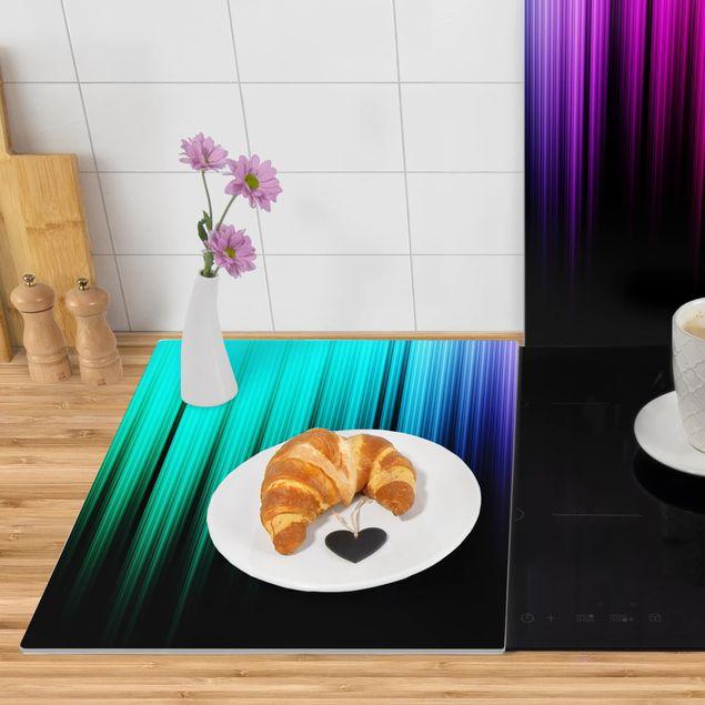 Produktfoto Herdabdeckplatte Glas - Rainbow Display - 52x80cm, Anwendungsbeispiel, Artikelnummer -XWAF