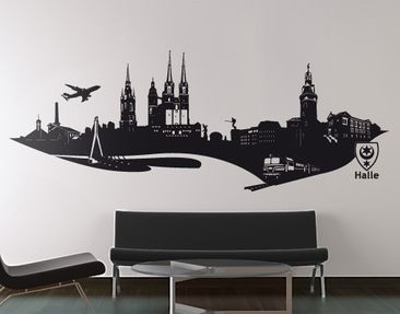 Produktfoto Wall Decal No.AC5 Skyline Halle