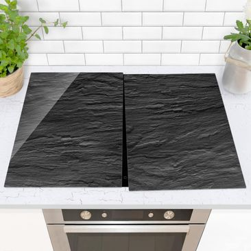Product picture Glass hob cover - Slate - 52x80cm