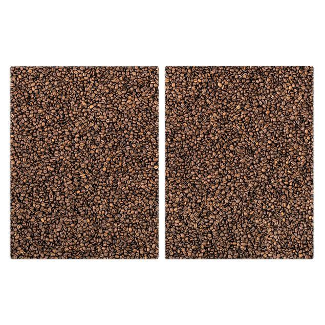 Produktfoto Herdabdeckplatte Glas - Sea of Coffee - 52x80cm, Frontalansicht, Artikelnummer -FF