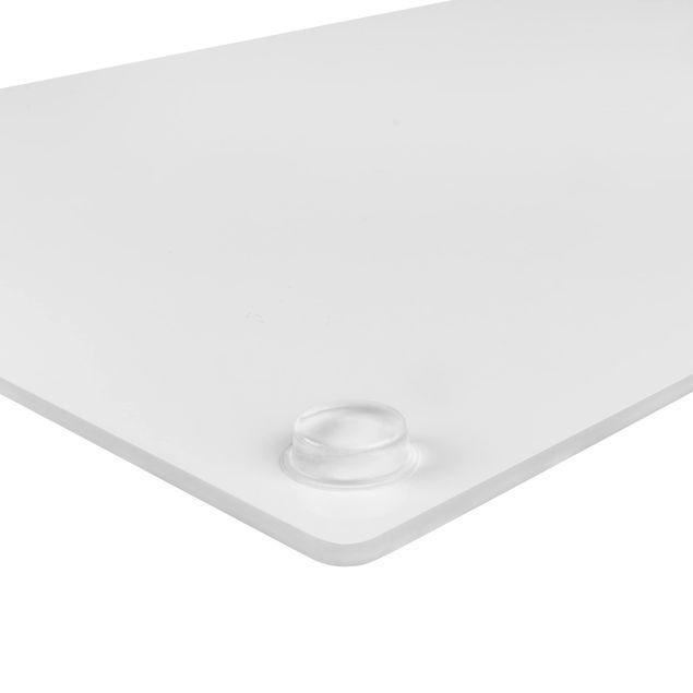 Produktfoto Herdabdeckplatte Glas - Tiefschwarz - 52x80cm, Abgerundete Ecken undGummifüße, Artikelnummer -CU