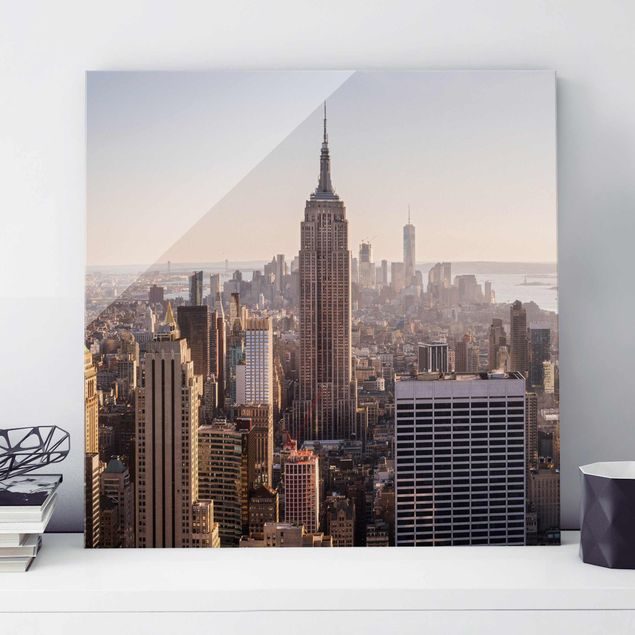 Produktfoto Glasbild - Blick vom Top of the Rock - Quadrat 1:1