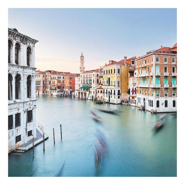 Produktfoto Glasbild - Canale Grande Blick von der Rialtobrücke Venedig - Quadrat 1:1