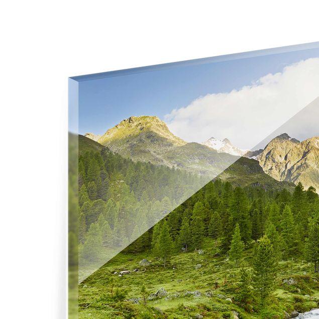 Produktfoto Glasbild - Debanttal Nationalpark Hohe Tauern - Quadrat 1:1