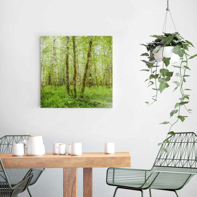 Produktfoto Glasbild - Hoh Rainforest Olympic National Park - Quadrat 1:1