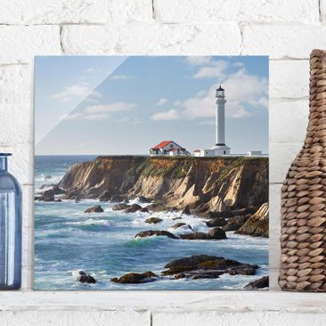 Produktfoto Glasbild - Point Arena Lighthouse Kalifornien - Quadrat 1:1
