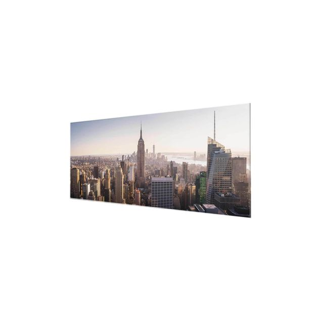 Produktfoto Glasbild - Blick vom Top of the Rock - Panorama
